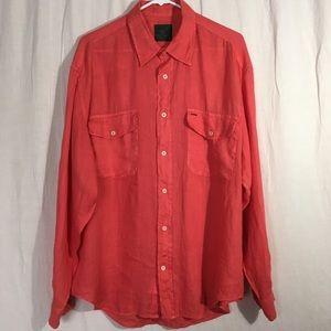 Henry Cotton's Linen Men's Button Front Shirt